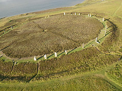Ring of Brodgar from above by Giles Carey