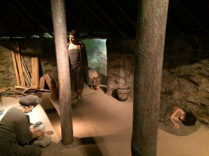 Reconstruction of the interior of a Bronze Age roundhouse