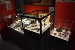 Bronze Age objects on display in Melton Carnegie Museum. Photograph courtesy of Leicestershire County Council.